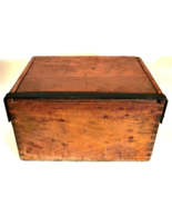 Dovetailed Box Antique Chest Wrought Iron Hardware Very Old Estate Sale ... - $156.42