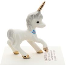 Hagen-Renaker Miniature Ceramic Unicorn Figurine Papa and Baby with Flowers Set image 5