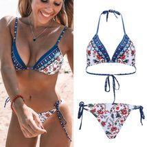 Womens Boho Floral Padded Bikini Sets Swimwear image 3