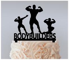 Wedding,Birthday Cake topper,Cupcake topper,silhouette bodybuilders : 11 pcs - $20.00
