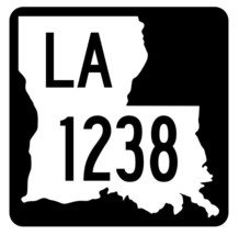 Louisiana State Highway 1238 Sticker Decal R6459 Highway Route Sign - $1.45+