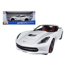 2014 Chevrolet Corvette Stingray C7 Z51 White 1/18 Diecast Model Car by ... - $52.35