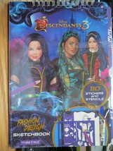 Disney Descendants 3 Fashion Design Sketchbook Stickers Stencils by Make... - $15.00