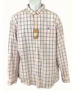 G.H. Bass & Co. Men's Long Sleeve Button Down Cotton Shirt Pink Blue Pla... - $8.91