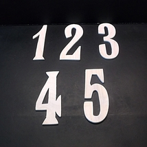 Wedding Table Numbers 1-20 Unfinished Wood Style 14 Stk No TN-14-.18-5-20 - $5.00