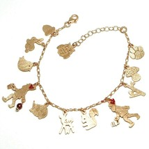 925 Silver Bracelet, Rabbit, Squirrel, Deer, Hedgehog, Owl, le Favole - $175.50