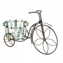 Galvanized Bucket Bike Plant Stand - $35.56