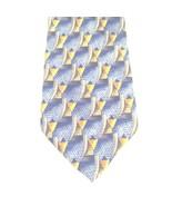Robert Talbott Studio Geometric Tie Blue Gray Gold Silk Hand Sewn USA 60... - $33.74