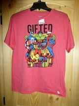 Marvel Comics Boys Superhero GIFTED Red Christmas T Shirt New 14/16 - $9.89