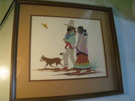 Robert Chee Navajo artist hand made silk-screen... - $82.15