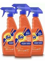 (3) Tide Antibacterial Fabric Spray Sanitizes and Freshens Fabrics 22 oz... - $59.99