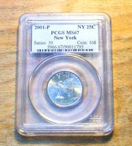 2001 - P PCGS Graded MS67 - New York State Quarter - $19.95