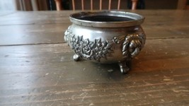 """Small Vintage Silver Lion and Flowers Incense Burner 2.75"""" x 1.5"""" - $69.29"""