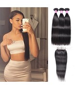 Mother's Day Gifts July Queen Brazilian Virgin Human Hair Straight 1B 14... - $59.60