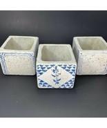 """3 Pcs Stone Concrete Square Cactus Plant Containers Succulent Planter 3""""x3"""" - $18.50"""