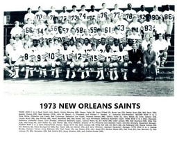 1973 NEW ORLEANS SAINTS 8X10 TEAM PHOTO NFL FOOTBALL PICTURE - $3.95