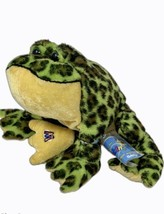 Ganz Webkinz Bullfrog Plush Green Spotted Frog Sealed Code Stuffed Anima... - $8.90
