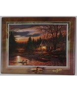 Tranquil Retreats 2 Quiet of the Evening Plate Terry Redlin Bradford Exc... - $29.70