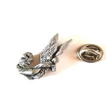angel design made from english pewter clip on rear Pin ,Badge / tie pin unisex