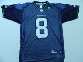 M102 New Reebok Seattle Seahawks Matt Hasslebeck Men's blue Jersey M - $39.55