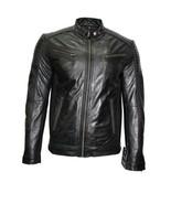 "New Black Classic Retro Bomber Men's 70""s Fashion Real Lambskin Leather Jacket - $152.46"
