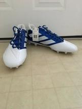 New Men's Adidas Freak Carbon Low Football Cleats Blue/White Size 17 - $49.45