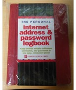 Peter Pauper Press The Personal Red Internet Address & Password Logbook     - $10.40