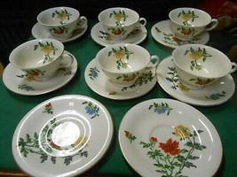 Magnificent CASTLETON China MaLIN by CHING CHIH YEE ..6 CUPS & SAUCERS &... - $49.09