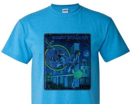 Night Stalker T-shirt Fee Shipping retro video game distressed heather blue tee image 2