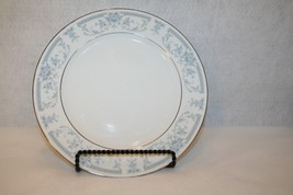 """Sheffield Fine China Dinner Plate Blue Whisper 10 1/2"""" Silver Trim Replacement  - $19.95"""