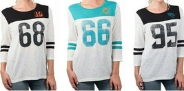 NFL Women's T Vintage Distressed 3/4 Sleeve Tee Shirt Ultra Game Choose ... - $17.95