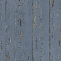Shiplap Wallpaper Dark Blue, Lapis Lazuli, Indigo, Indigo Blue Norwall W... - $34.99