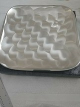 "Vintage Japan Pearlized Four Footed Silver Ware Tray By Moben 10"" x10"" New - $14.96"