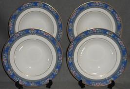 Set (4) 1993 Royal Doulton Bone China AUSTIN PATTERN Soup Bowls ENGLAND - $63.35