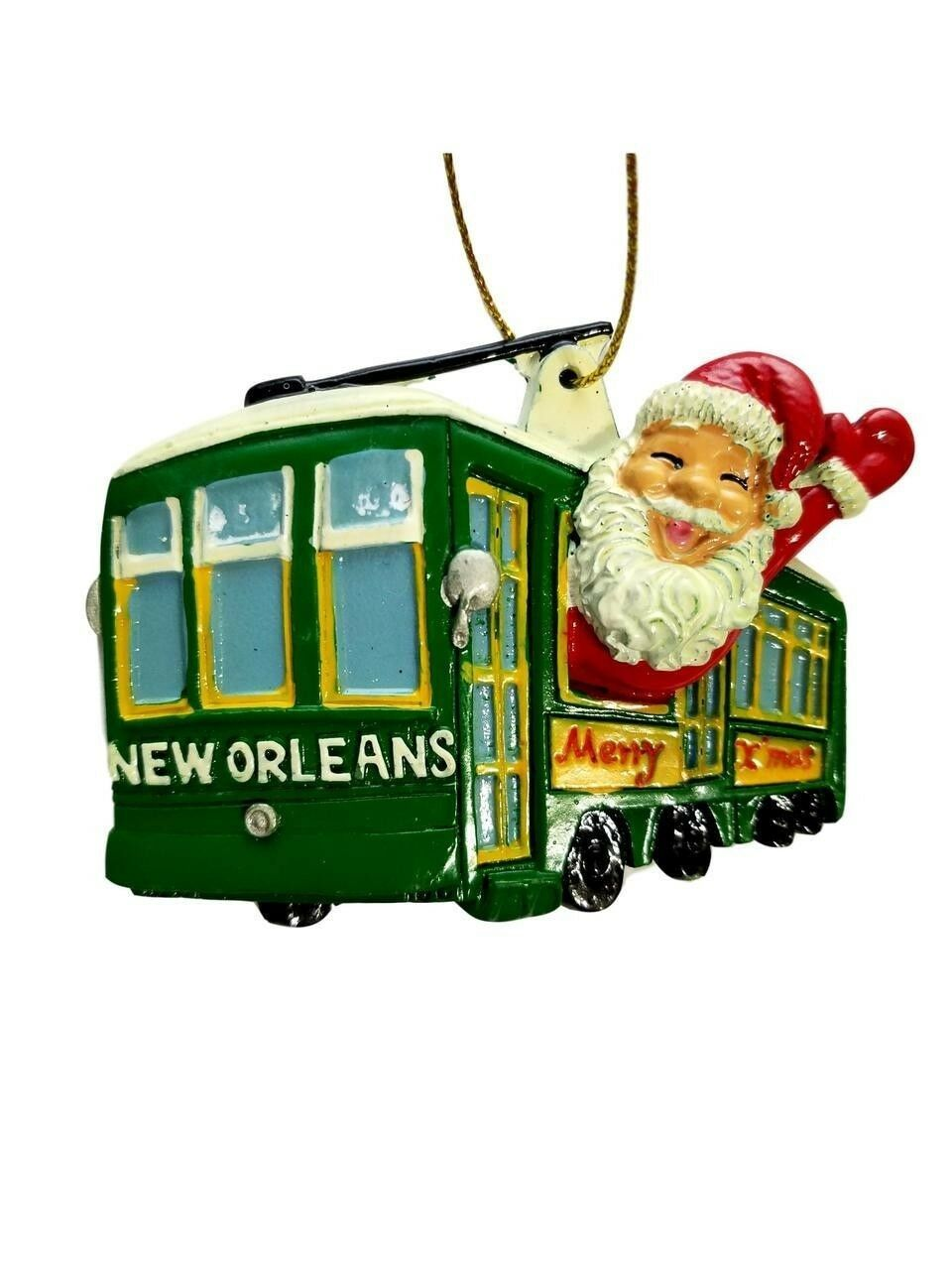 Streetcar Santa New Orleans Merry Christmas Ornament Party Favors
