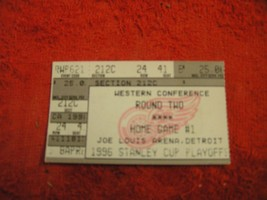 NHL 1996 DETROIT RED WINGS STANLEY CUP PLAYOFF Western Conf Round 2 Tick... - $3.99