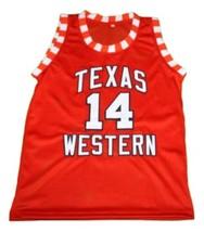 Bobby Joe Hill #14 Texas Western New Men Basketball Jersey Orange Any Size image 4