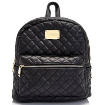 Bebe Womens Large Maria Quilted Faux Leather Ba... - $54.99