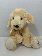 Russ Shining Stars plush puppy dog yellow lab gold ribbon bow stuffed animal toy - $4.94
