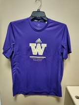 Adidas Washington Huskies Training Tee Mens Medium Purple GP1301 - $14.25