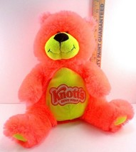Knotts Berry Farm Florescent Orange Plush Syuffed Teddy Bear Amusement Park - $10.88
