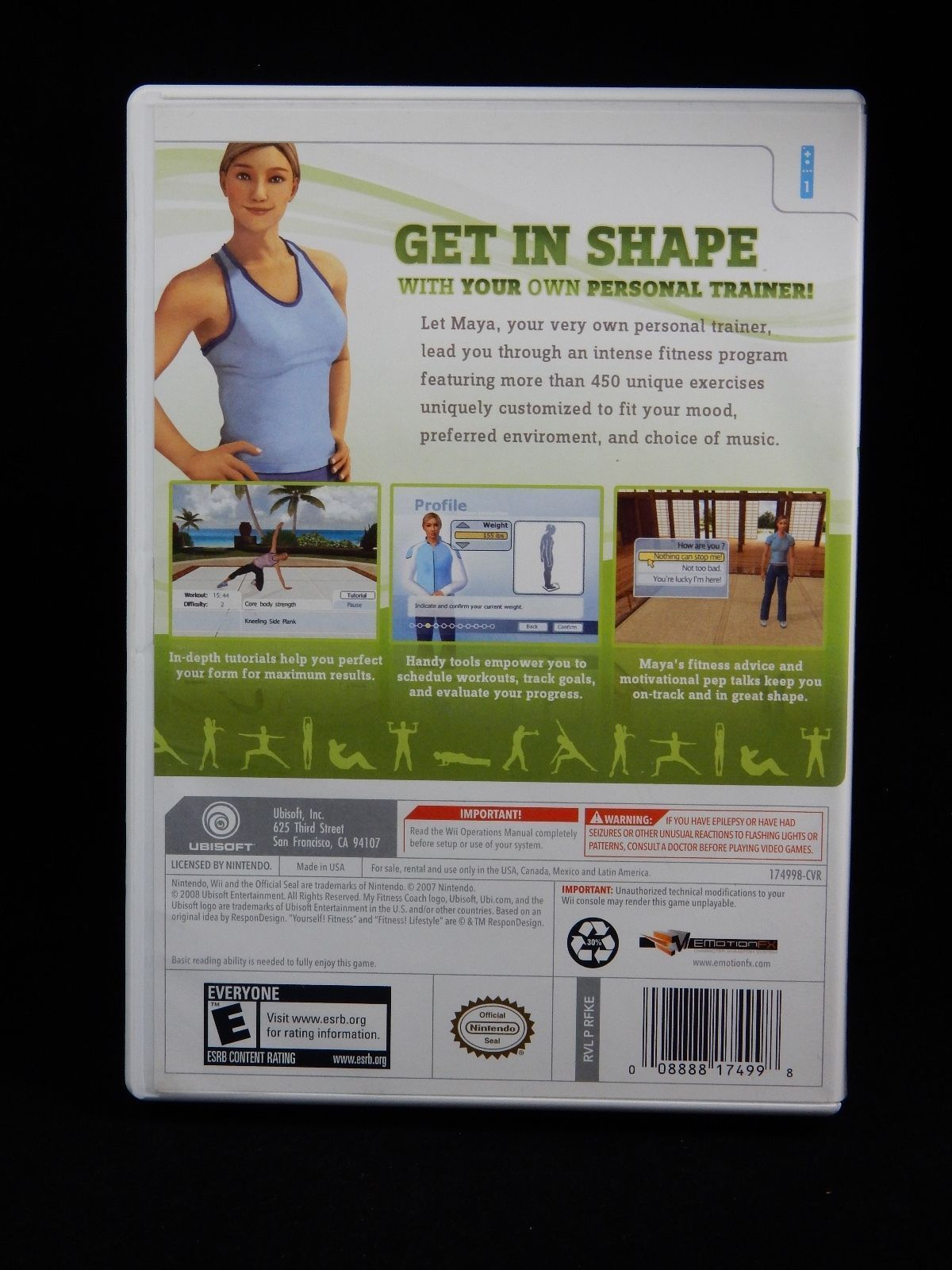 My Fitness Coach (Nintendo Wii, 2008) COMPLETE