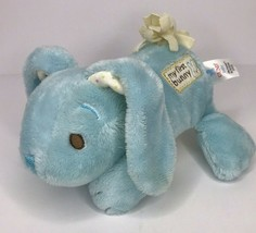 Gund My First Bunny Blue Rattle Polka Dot Ears Little Hoppes 320035 Plush - $20.50