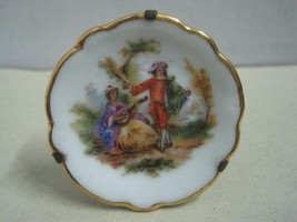 Antique very Small Dish Limoges a couple made in France - $9.95