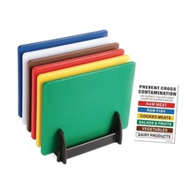 6X Hygiplas Standard Low Density Chopping Board Colour Coded Set Kitchen... - $44.10