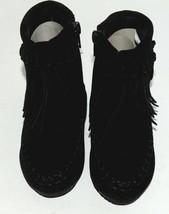 I Love Yo Kids AVA 92T Girls Fringe Boot Black Zip Up Size Five image 2