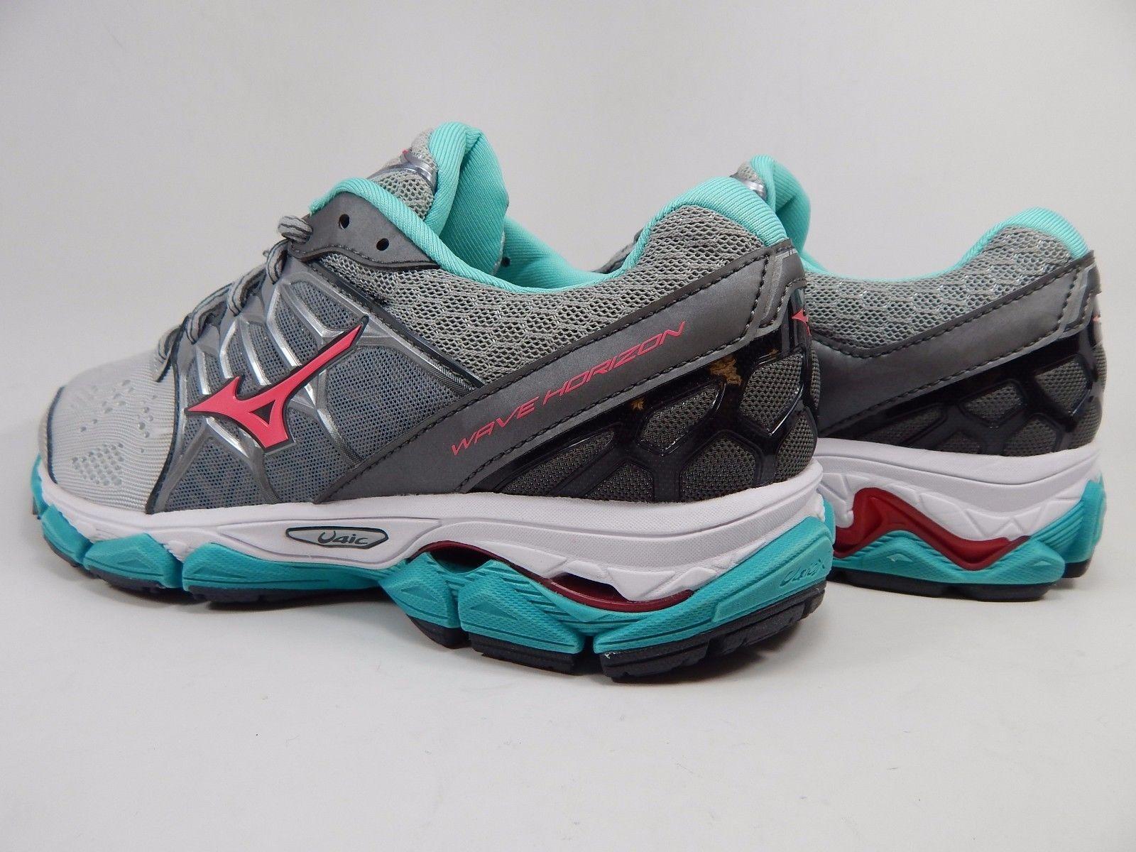 Mizuno Wave Horizon Women's Running Shoes Size US 8 M (B) EU 38.5 Silver / Green