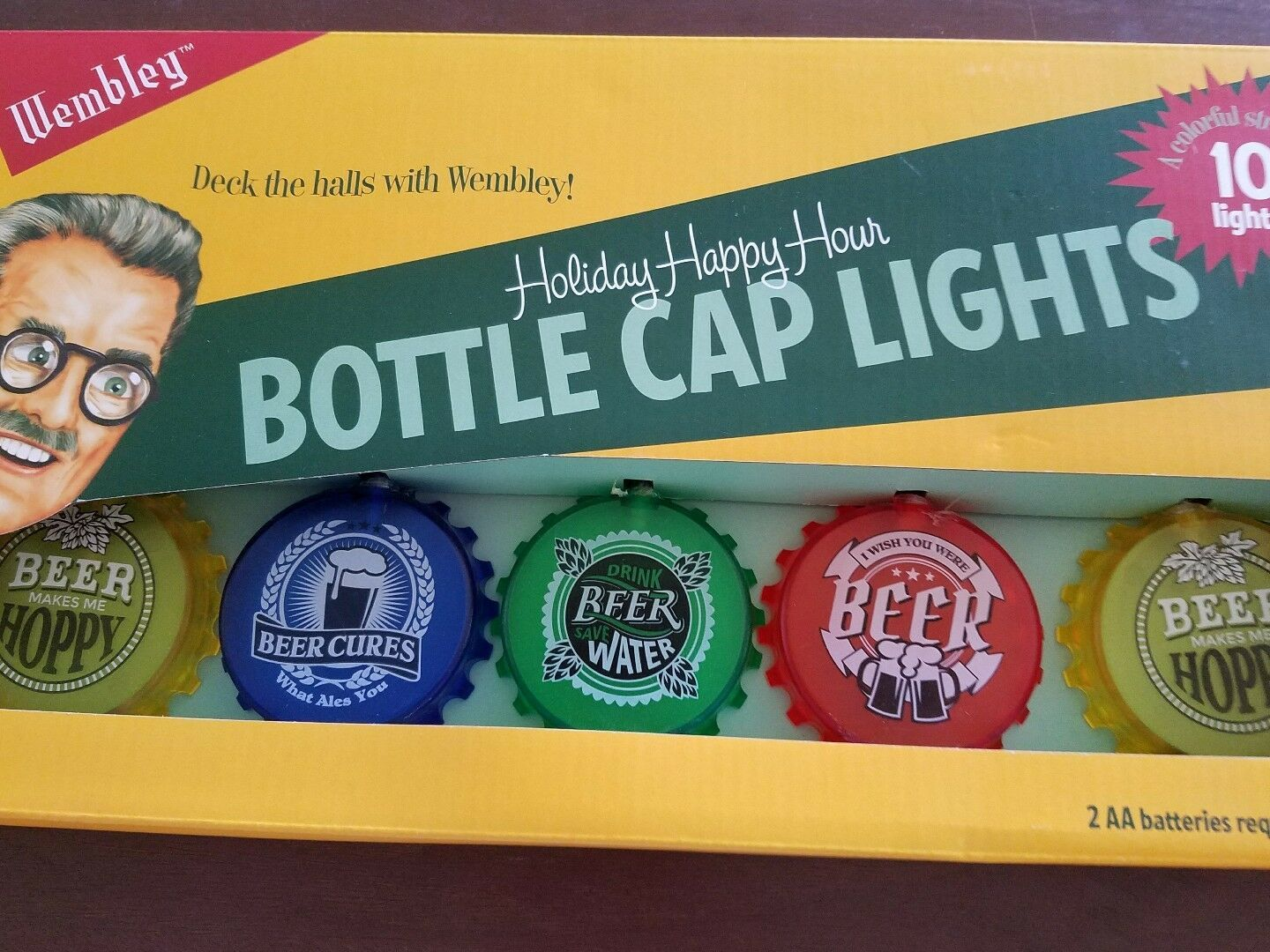 Wembley Holiday Happy Hour Bottle Cap Lights String
