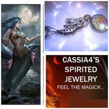 Haunted NECKLACE FIRE MERMAID SEDUCTIVE PASSION SEXY SPIRIT VESSEL WITCH  - $48.77