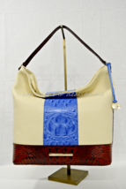 Brahmin Leather Harrison Hobo/Shoulder Bag in Regatta Oroya. Tri-Color/T... - $319.00